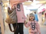 2011秋冬加厚数字9亲子装 宝宝上衣+裤两件T010
