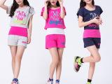 2014夏季新款女装韩版薄款运动卫衣套装 3件套
