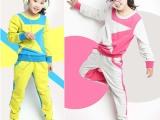 童装一件代发品牌女童装运动套装 春夏新款中儿童卫衣2件套装批发