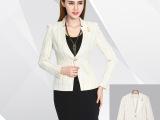 2015春季新款欧美女装 条纹长袖西服外套女 修身职业西装女外套