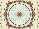 佛山 高档镀金砖 地面抛晶砖仿地毯 拼图 玄关花 客厅