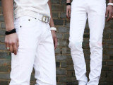 超级跑量款男士修身裤小脚铅笔牛仔裤白裤亏本大处理