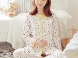 春款月子服全棉大码哺乳衣孕产妇睡衣长袖孕