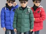 新款男女童冬装加厚外套 韩版中大童带毛领儿童羽绒服批发