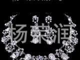 新娘饰品水晶皇冠项链批发订做,结婚水晶皇冠,合金饰品批发