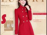 品牌羊毛羊绒大衣女款修身中长款羊毛高档保暖大衣羊毛绒外套女冬