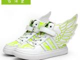 2014爆款超炫儿童翅膀鞋潮 秋款韩版女童蕾丝高帮儿童品牌运动鞋