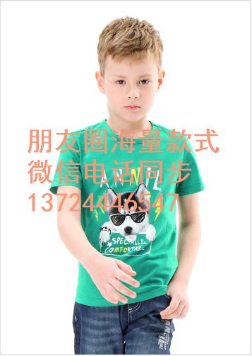 印花半袖T恤夜市地摊货便宜T恤直销 山西长治纯棉男童夏装批发