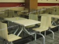 麦当劳店餐桌椅,快餐店桌椅,成都发泰快餐桌椅制造商
