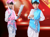新六一儿童民族舞蹈服男女童古装三字经演出服少儿古代书生表演服