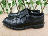 17凉配发款夏季透气网眼商务正装皮鞋军鞋老三条皮凉鞋爸爸鞋