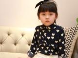 【可可向尚】2014秋童装 欧美范复古长袖爱 心衬衫女童8019