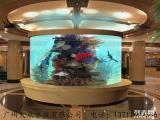定做大型观赏鱼缸,星级酒店定做大堂鱼缸,酒店亚克力观赏鱼缸定