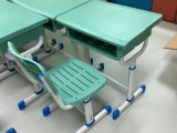 育才加厚學生課桌椅書桌單人桌培訓桌折迭桌條桌