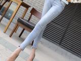 2015夏季新款YESBON韩版高腰七分牛仔裤小脚裤铅笔裤Y82
