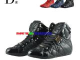 13新款D家短靴四季靴真皮平底系带菱格休闲鞋女鞋秋冬靴