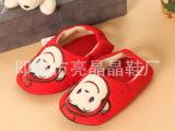 外贸原单出口韩国*嘴巴猴儿童室内鞋 家居地板鞋 宝宝居家拖鞋