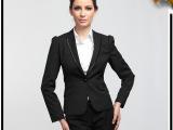 时尚气质职业正装西服 GW0603女式竖纹1扣欧美小西装