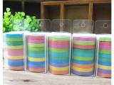 韩版彩虹和纸胶带 可手撕 可书写胶带贴纸 10卷一盒