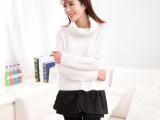 2014冬装新款中高端女装长袖套头套头保暖针织衫高领兔毛毛衣女式