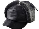 老人帽子 男士冬天 户外棉帽 冬帽 中老年护耳鸭舌帽保暖帽老头帽