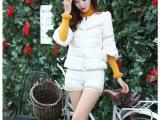2014秋冬新款羽绒服女款韩版时尚羽绒棉衣短款套装两件套 批发