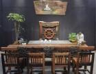 老船木家具 天然海螺孔龙骨茶桌椅厂家直销