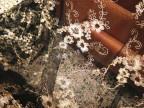 现货 新款金线车骨花边刺绣布匹/女装裙服装辅料/网布刺绣花边