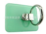 厂家直销 塑料绿色平口手机指环支架 多功能防滑防摔360度旋转