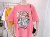 厂家清仓纯棉T恤摆地摊女装批发新款半袖T恤低至几块钱起