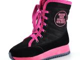厂家直销 秋冬新款韩版时尚潮女靴高帮靴 厚底系带加厚学生棉靴