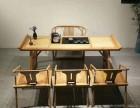 新中式茶桌椅实木茶桌茶台功夫茶台泡茶桌简约家具