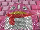 【现实版QQ】QQ镶钻鼠标(流行),精美光电鼠标,礼品鼠标