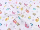 多彩象精梳双层印花面料 婴儿服装纯棉双层纱布批发