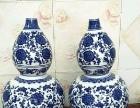 景德镇青花陶瓷葫芦花瓶