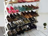 加工生产 落地式可拆装鞋架 鞋子展示架 双面拖鞋展示挂架 展示架