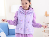2014秋冬款新品韩版女童套装 韩版加绒加厚纯棉卫衣两件套 童装