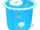 海之雨婴儿游泳池 保温加厚顶环充气支架夹网布折叠大圆形游泳桶