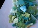 废塑料HDPE杂色瓶盖粉碎料