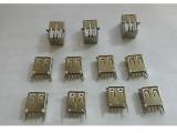 供应USB插座 USB90度母座单层USB接口 USB母座电子连