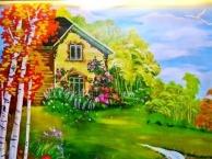 电视墙、沙发墙、餐厅、玄关、儿童房家装墙绘壁画
