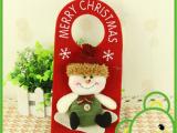 圣诞节日挂饰 圣诞老人门牌挂件 礼品定制 多款圣诞用品批发