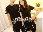 2014韩国新款夏装个性原宿风情侣装班服短袖T恤一件代发