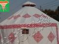 生态园户外农家乐烧烤钢架蒙古包帐篷批发