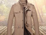 男外套库存 男士中长款外套 纯棉毛胆 品
