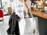 2014新款欧美大牌时尚女包包单肩斜跨手提包鳄鱼纹石头纹子母包潮