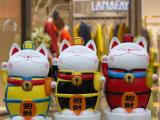 室内商场地产美陈装饰大型卡通招财猫雕塑摆