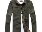3332春款AFS jeep男士格子长袖衬衫 双面穿长袖水洗宽松衬衣大码