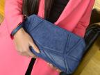 新款韩版水立方拼接磨砂皮链条女士晚宴包单肩斜挎潮女小包手拿包