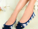 厂家批发 夏季真皮拼色蝴蝶结女鞋时尚舒适透气平底鞋外贸单鞋
